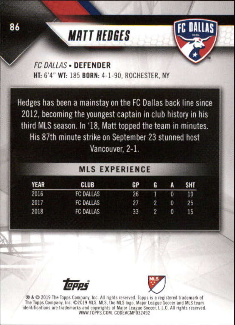 2019-Topps-MLS-Soccer-Base-Singles-1-200-Pick-Your-Cards thumbnail 165