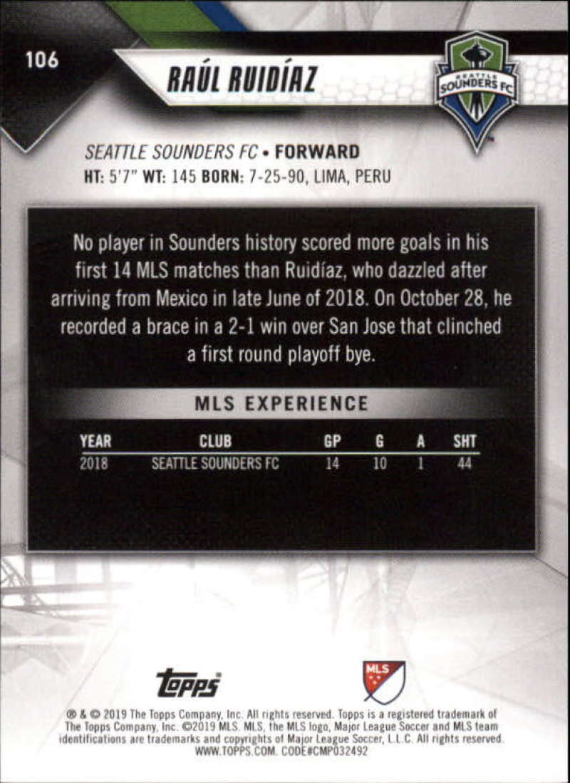 2019-Topps-MLS-Soccer-Base-Singles-1-200-Pick-Your-Cards thumbnail 201