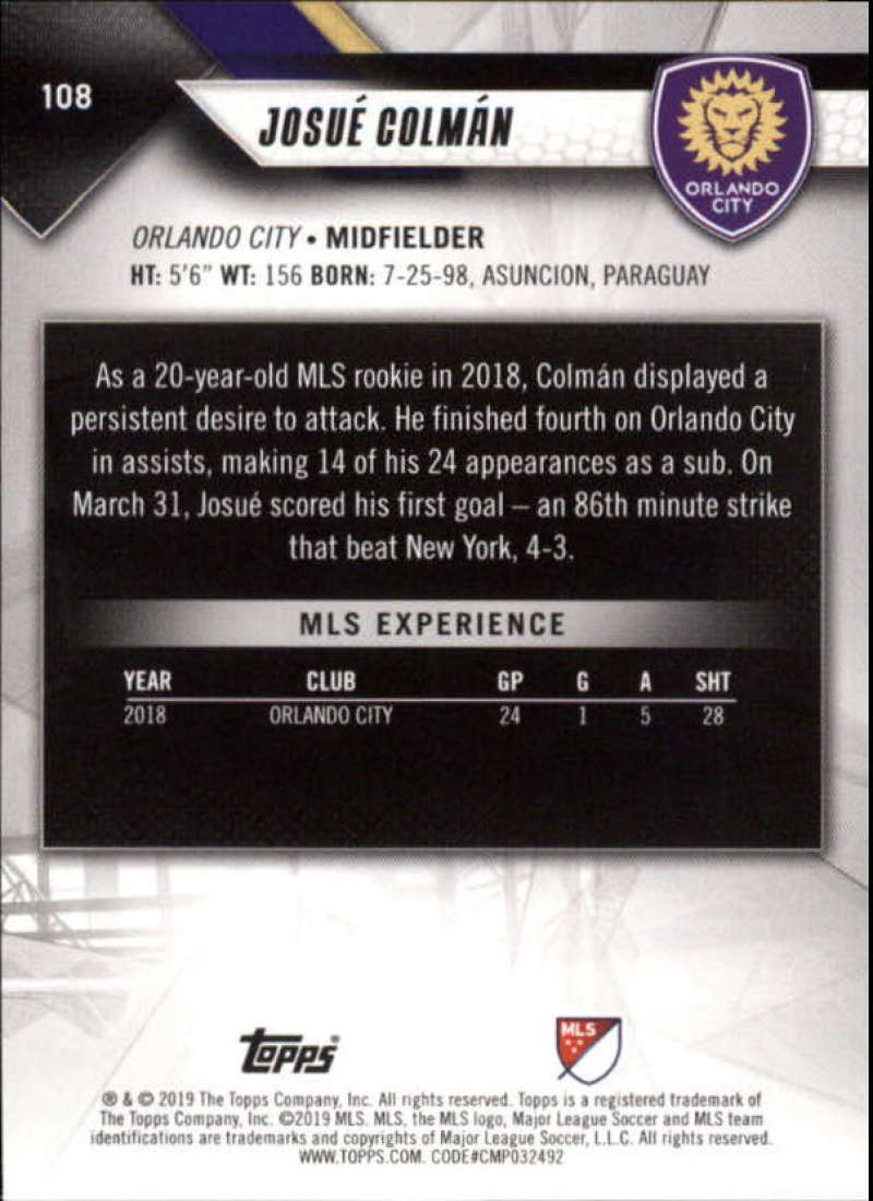 2019-Topps-MLS-Soccer-Base-Singles-1-200-Pick-Your-Cards thumbnail 205