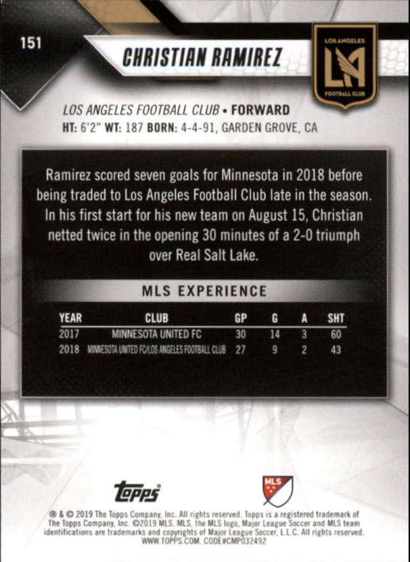 2019-Topps-MLS-Soccer-Base-Singles-1-200-Pick-Your-Cards thumbnail 289