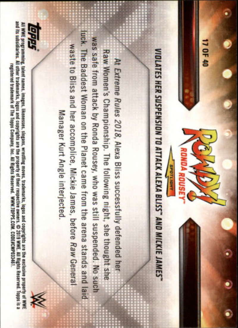 2019-Topps-WWE-Raw-Wrestling-Insert-Singles-Pick-Your-Cards thumbnail 149