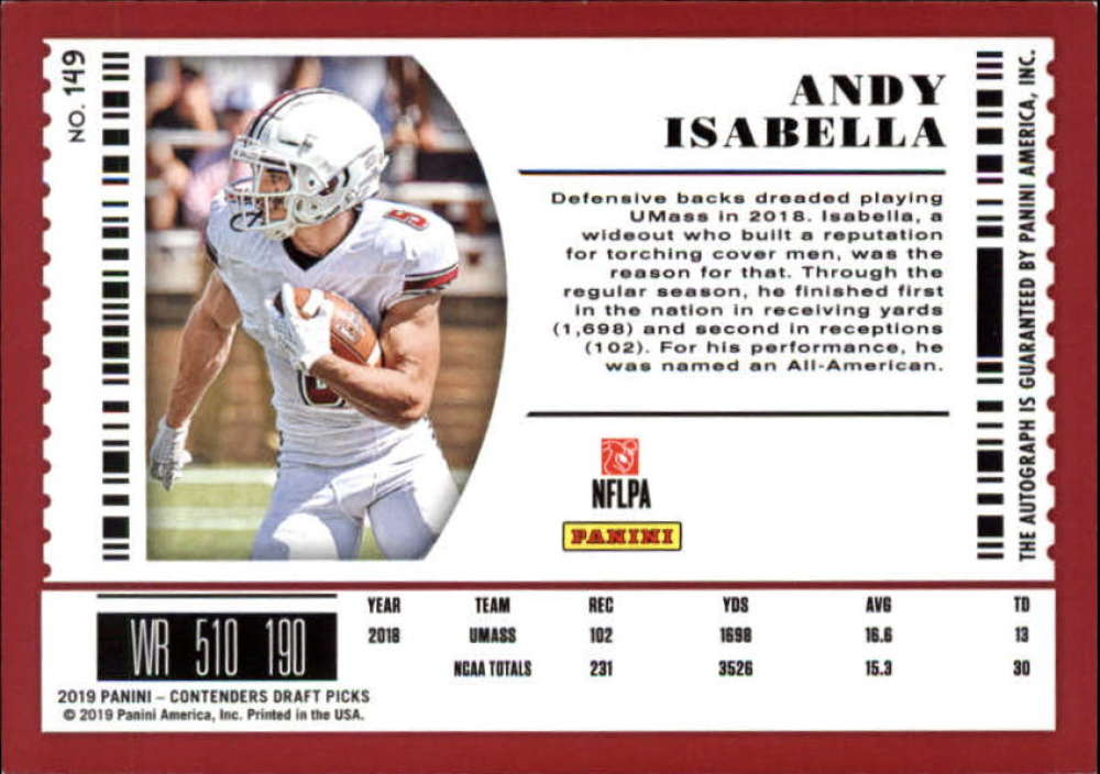 2019-Panini-Contenders-Draft-Football-Rookie-Autograph-Singles-Pick-Your-Cards thumbnail 7