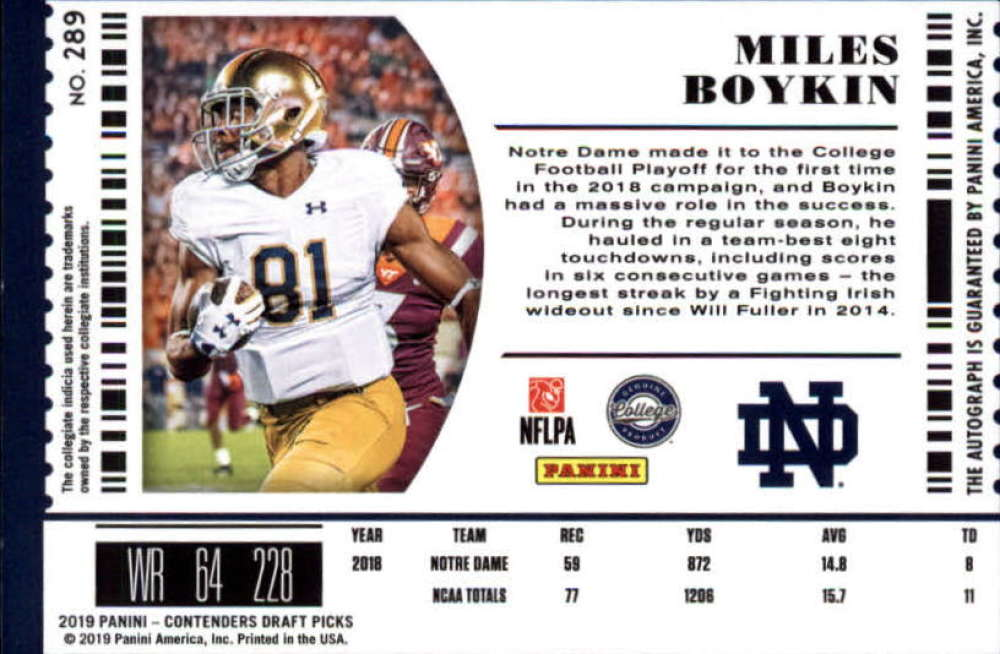 2019-Panini-Contenders-Draft-Football-Rookie-Autograph-Singles-Pick-Your-Cards thumbnail 103