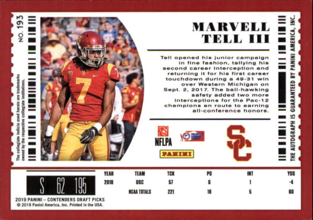 2019-Panini-Contenders-Draft-Football-Rookie-Autograph-Singles-Pick-Your-Cards thumbnail 27
