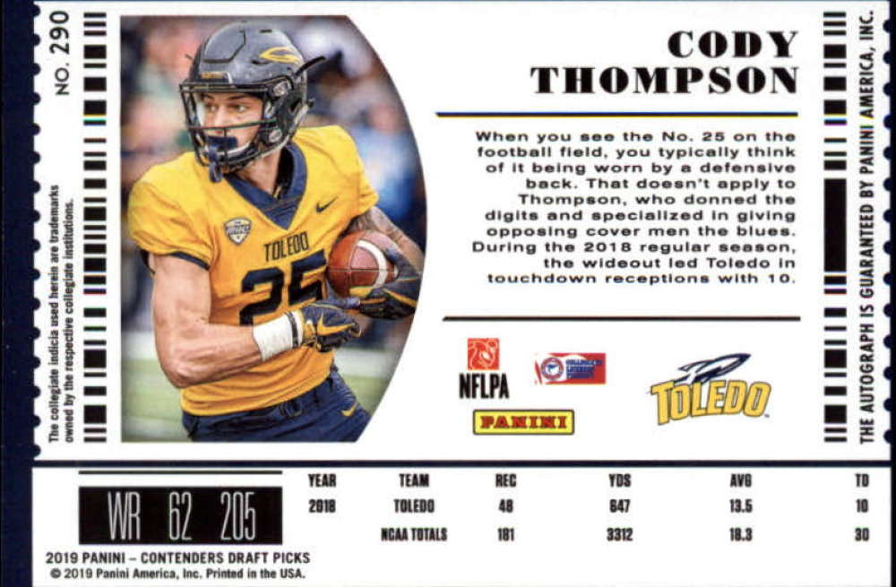 2019-Panini-Contenders-Draft-Football-Rookie-Autograph-Singles-Pick-Your-Cards thumbnail 105