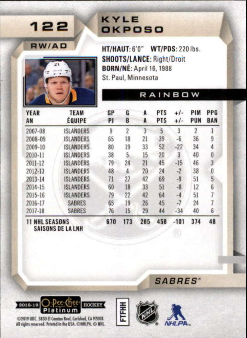 2018-19-O-Pee-Chee-OPC-Platinum-NHL-Hockey-Rainbow-Singles-Pick-Your-Cards thumbnail 113