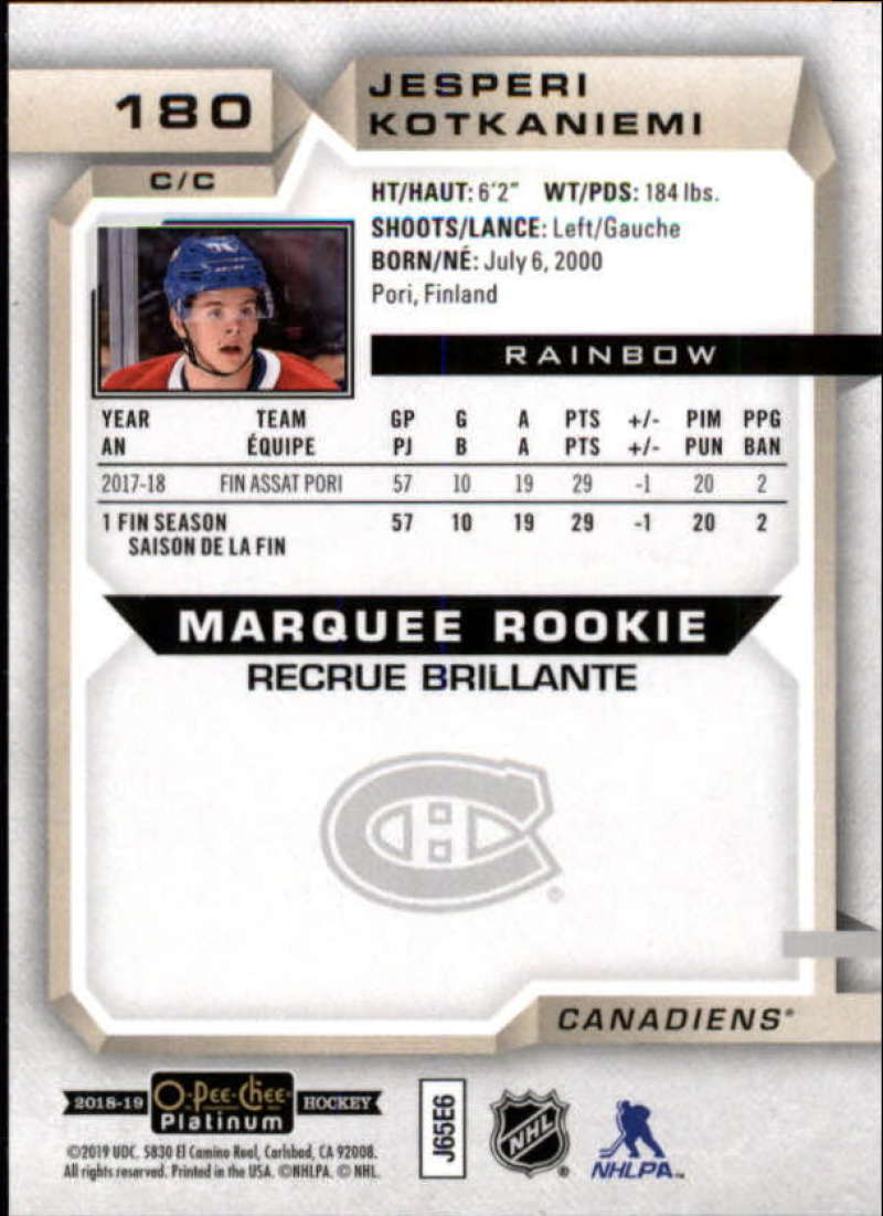 2018-19-O-Pee-Chee-OPC-Platinum-NHL-Hockey-Rainbow-Singles-Pick-Your-Cards thumbnail 165