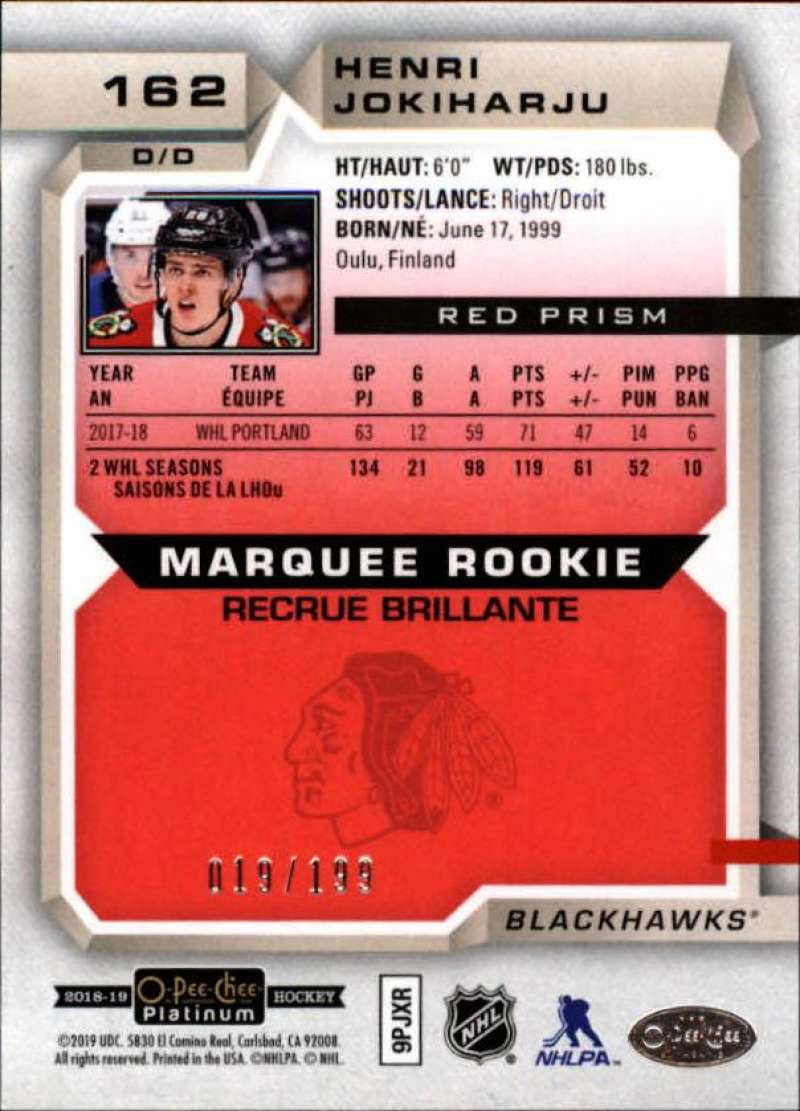 2018-19-O-Pee-Chee-OPC-Platinum-NHL-Hockey-Red-Prism-Singles-Pick-Your-Cards thumbnail 25