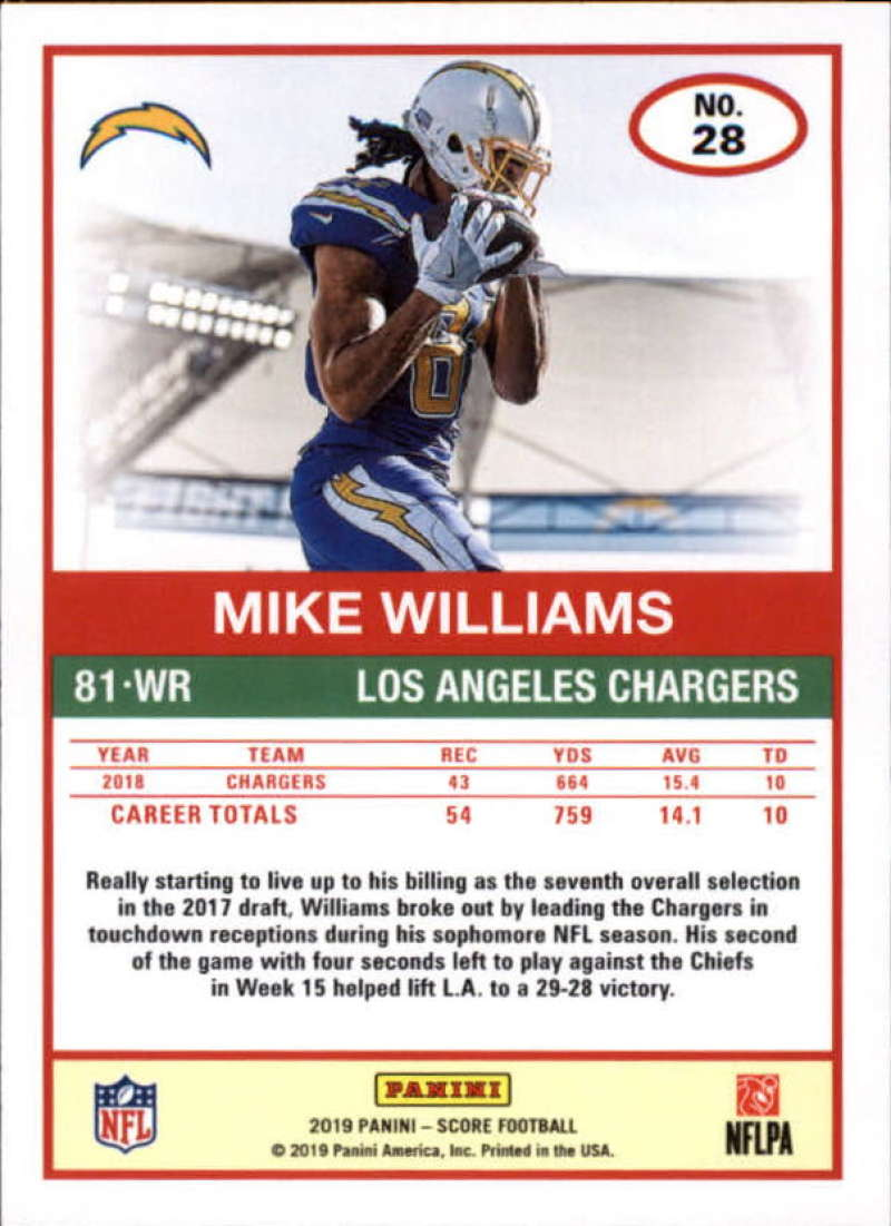 miniature 3 - 2019 Score NFL Football Parallel Singles (Pick Your Cards)
