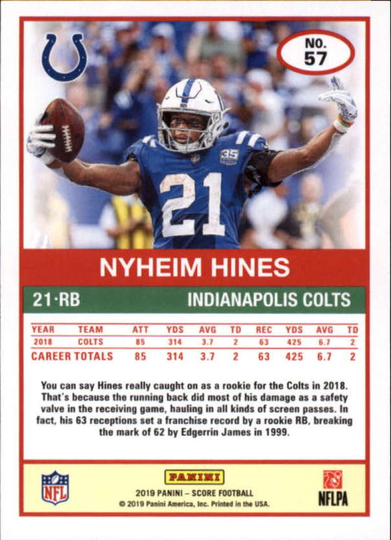 miniature 5 - 2019 Score NFL Football Parallel Singles (Pick Your Cards)