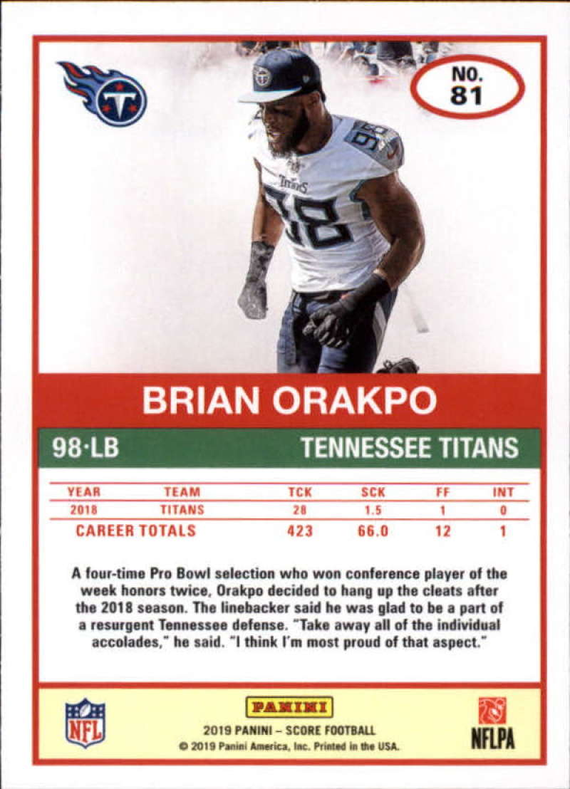 miniature 9 - 2019 Score NFL Football Parallel Singles (Pick Your Cards)