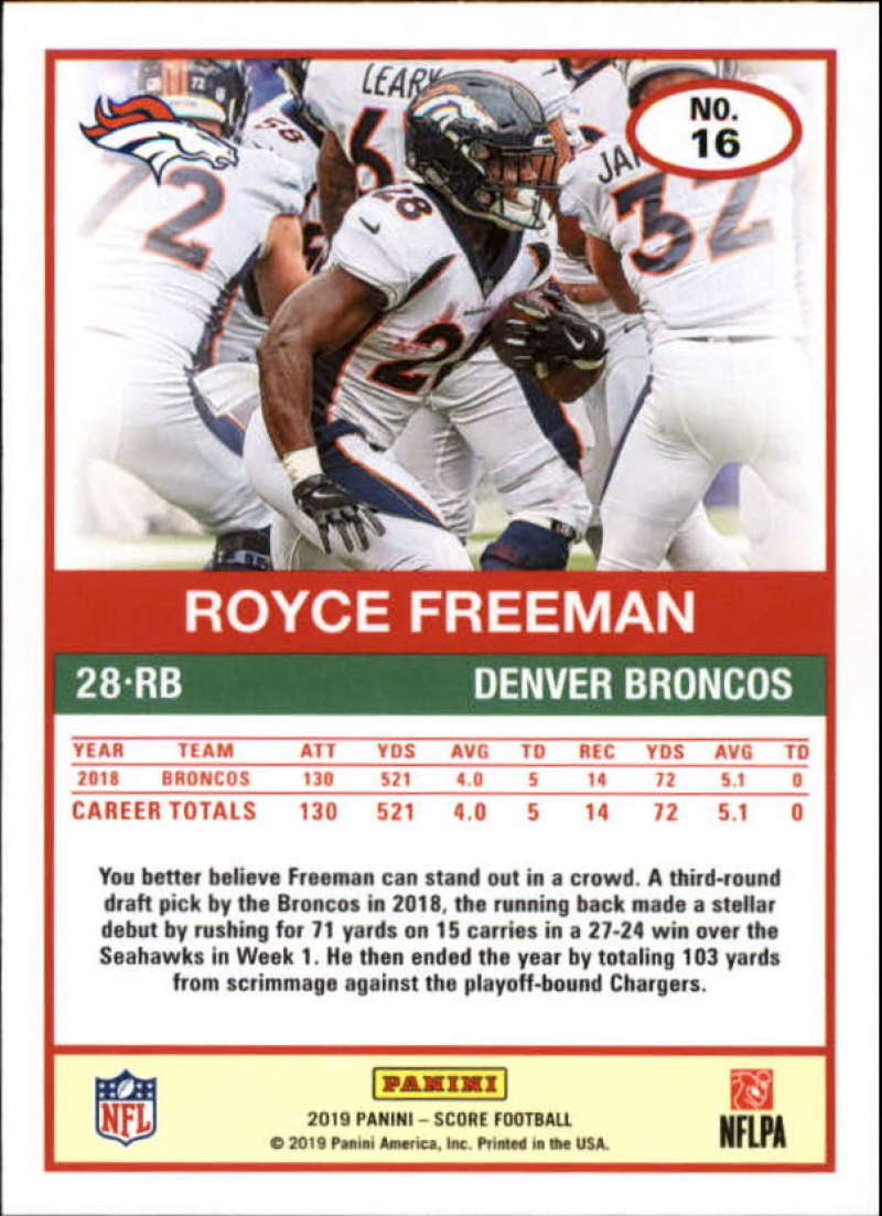 miniature 33 - 2019 Score NFL Football Parallel Singles (Pick Your Cards)