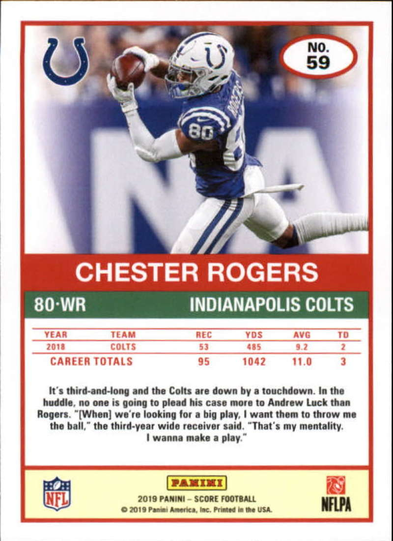 miniature 37 - 2019 Score NFL Football Parallel Singles (Pick Your Cards)