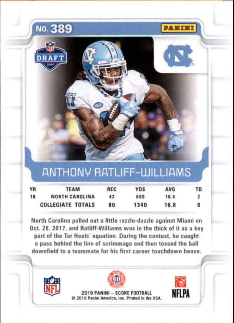 miniature 51 - 2019 Score NFL Football Parallel Singles (Pick Your Cards)