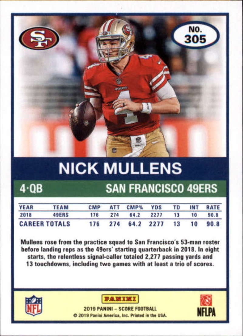 miniature 69 - 2019 Score NFL Football Parallel Singles (Pick Your Cards)
