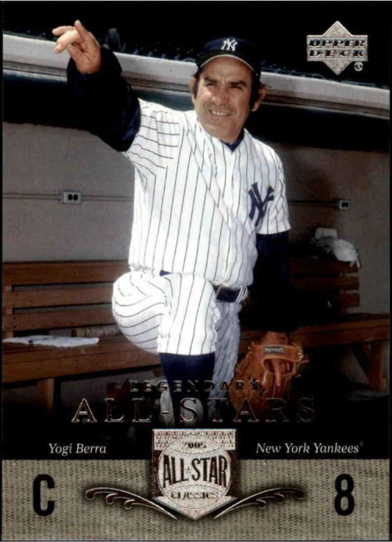 2005 UD All-Star Classics #100 Yogi Berra MLB Baseball Trading Card New York Yankees