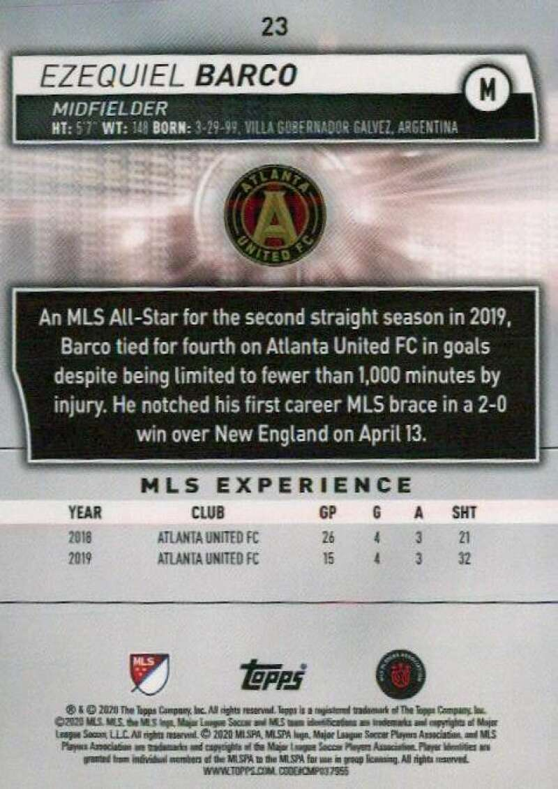 thumbnail 46 - 2020 Topps MLS Soccer Base Singles (Pick Your Cards)