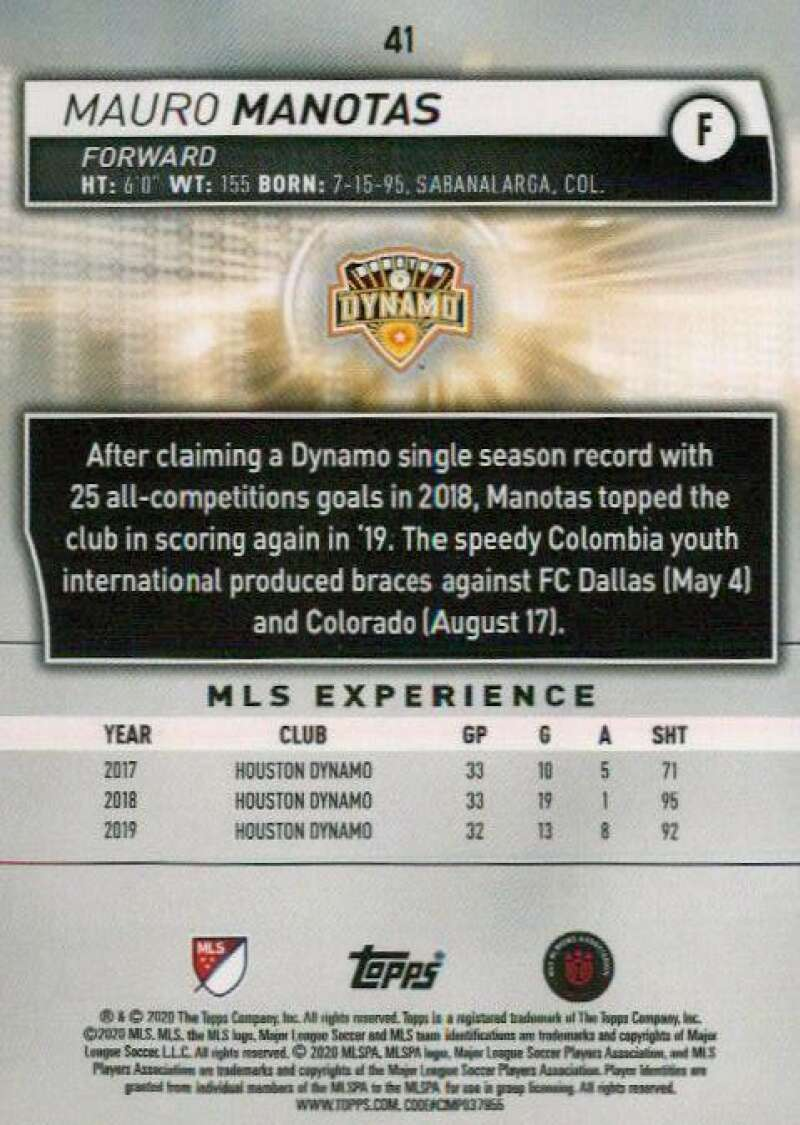 thumbnail 82 - 2020 Topps MLS Soccer Base Singles (Pick Your Cards)
