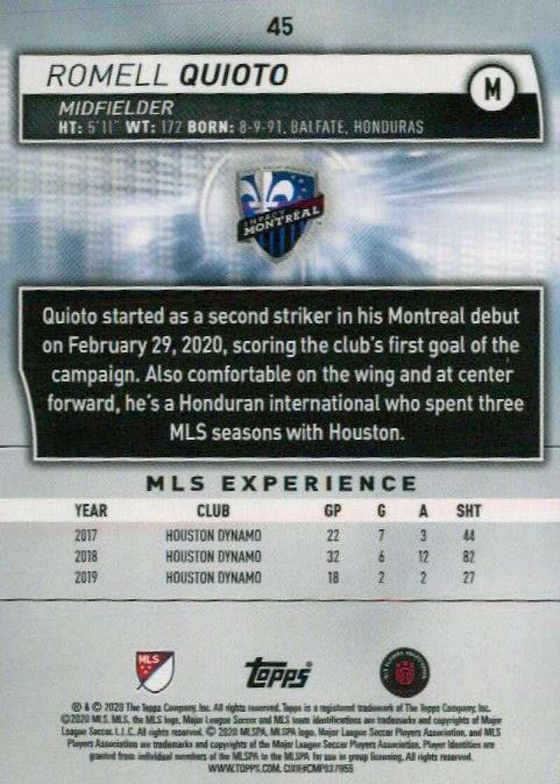 thumbnail 90 - 2020 Topps MLS Soccer Base Singles (Pick Your Cards)