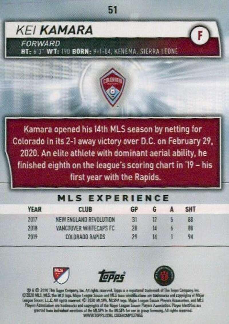 thumbnail 102 - 2020 Topps MLS Soccer Base Singles (Pick Your Cards)