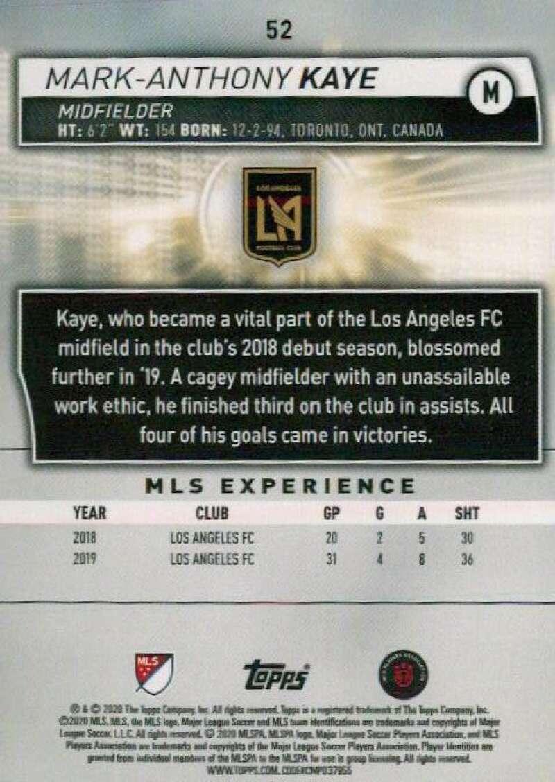 thumbnail 104 - 2020 Topps MLS Soccer Base Singles (Pick Your Cards)