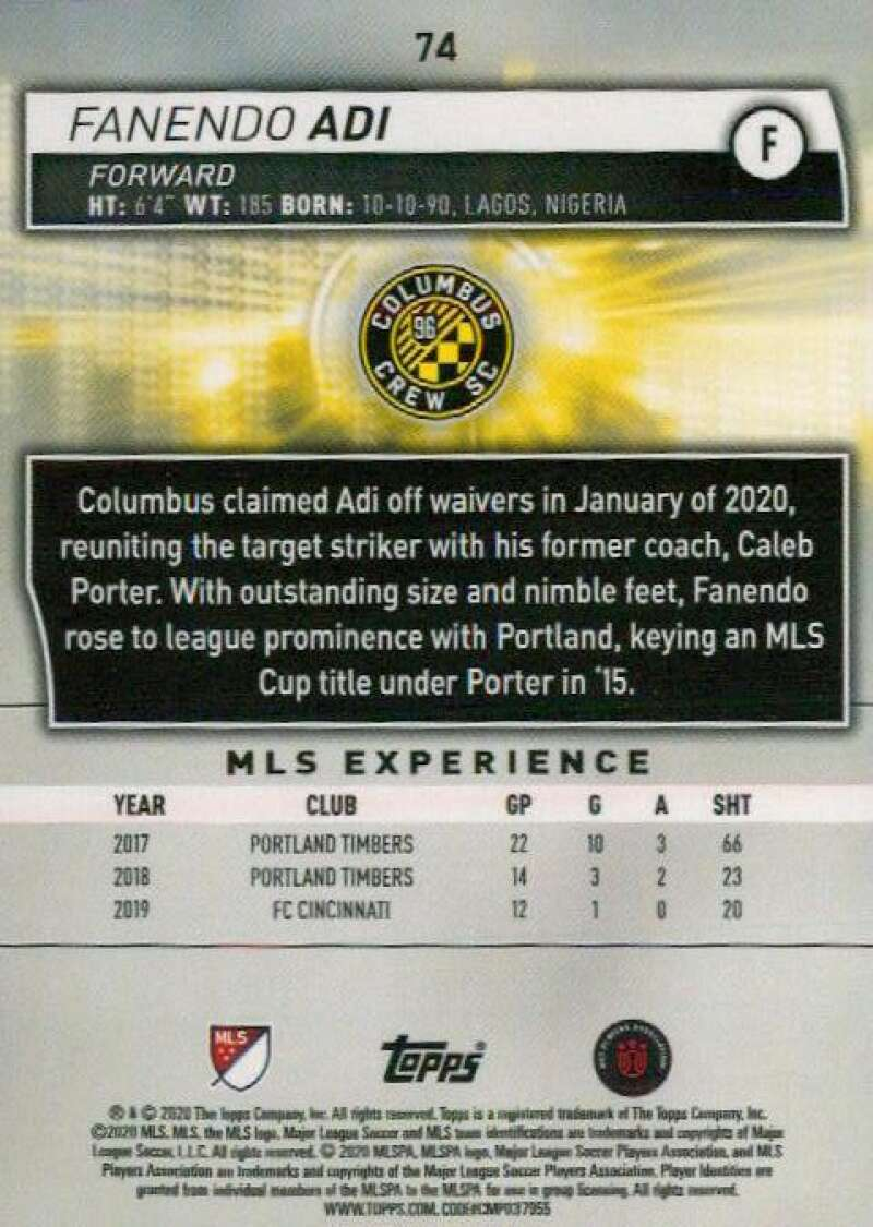 thumbnail 148 - 2020 Topps MLS Soccer Base Singles (Pick Your Cards)