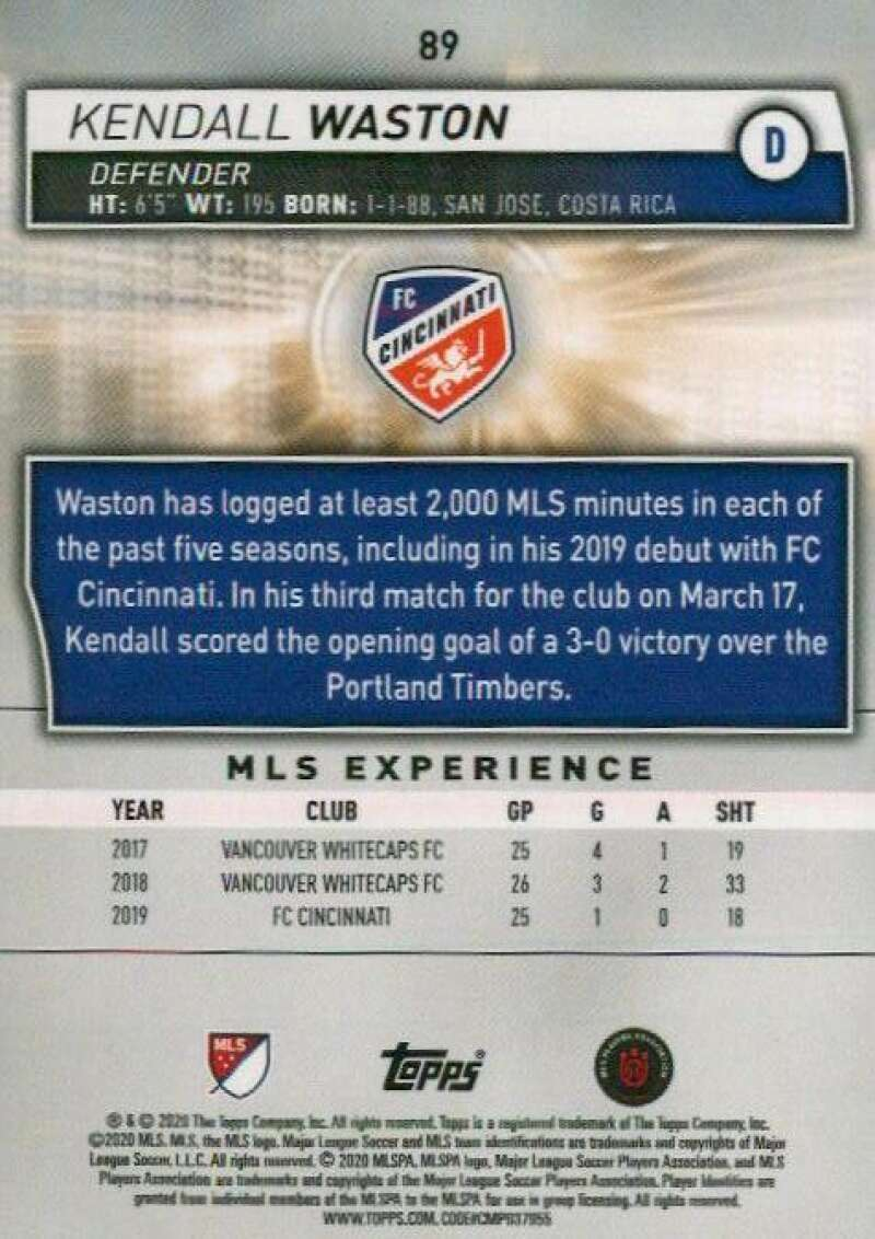 thumbnail 178 - 2020 Topps MLS Soccer Base Singles (Pick Your Cards)