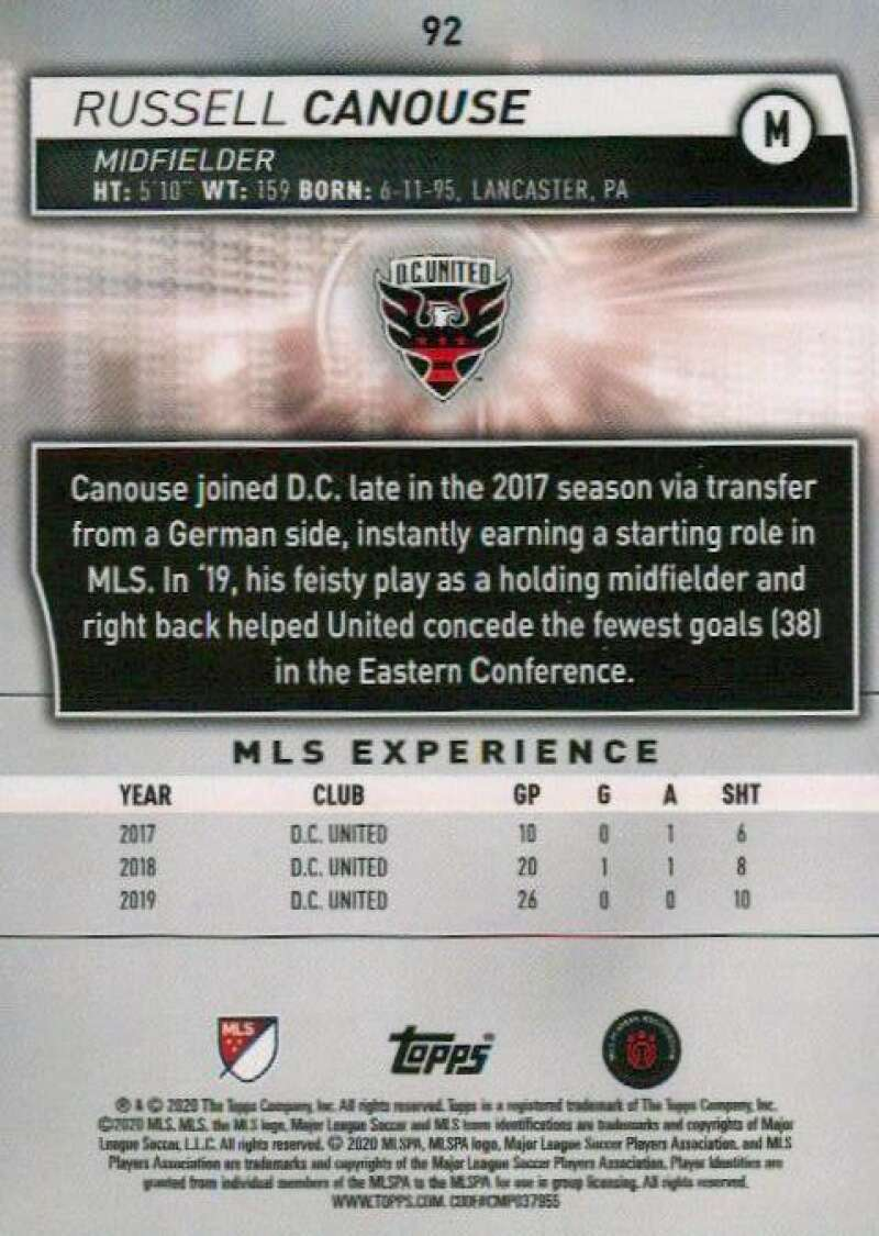 thumbnail 184 - 2020 Topps MLS Soccer Base Singles (Pick Your Cards)