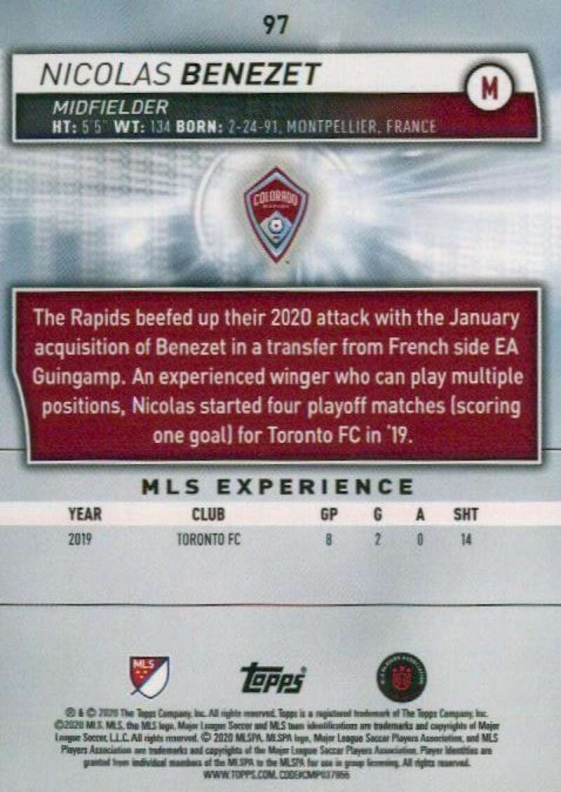 thumbnail 194 - 2020 Topps MLS Soccer Base Singles (Pick Your Cards)