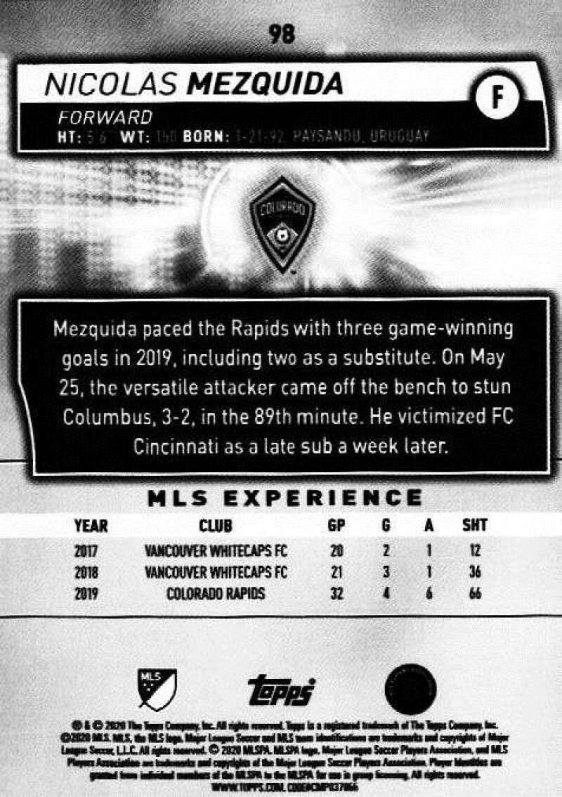 thumbnail 196 - 2020 Topps MLS Soccer Base Singles (Pick Your Cards)