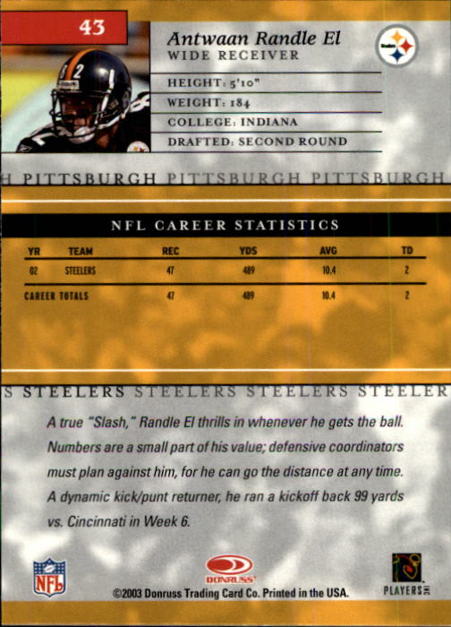 2003-Donruss-Elite-Football-Base-Singles-Pick-Your-Cards thumbnail 83