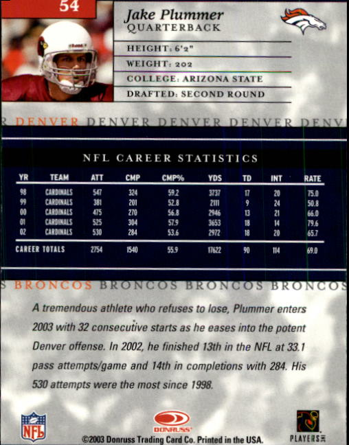 2003-Donruss-Elite-Football-Base-Singles-Pick-Your-Cards thumbnail 105