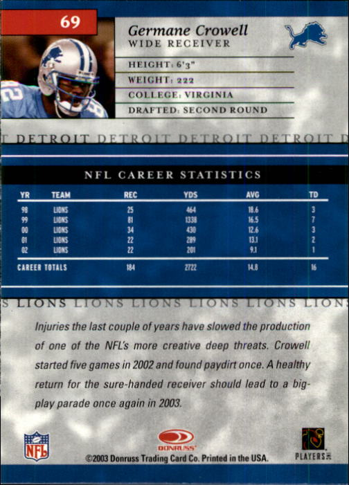 2003-Donruss-Elite-Football-Base-Singles-Pick-Your-Cards thumbnail 135