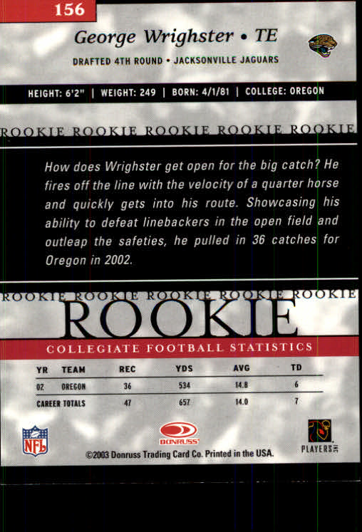 2003-Donruss-Elite-Football-Base-Singles-Pick-Your-Cards thumbnail 215