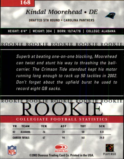 2003-Donruss-Elite-Football-Base-Singles-Pick-Your-Cards thumbnail 217