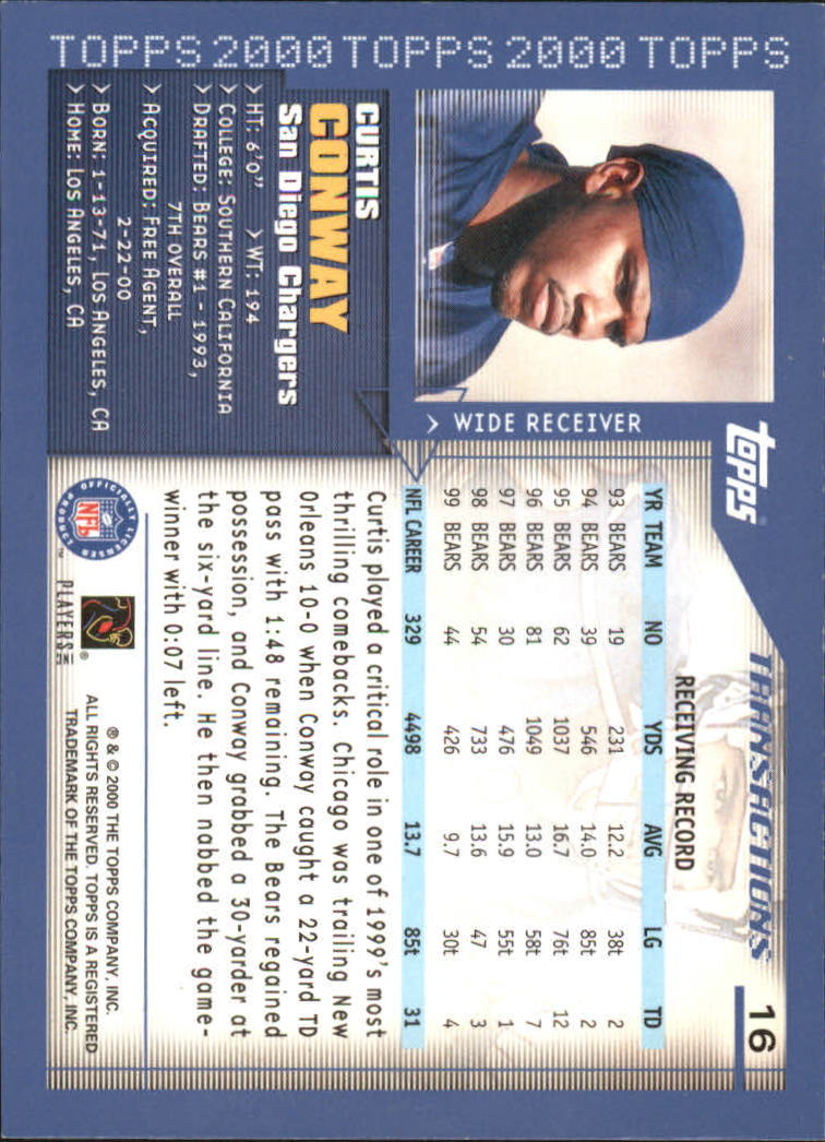 2000-Topps-Football-Base-Singles-3-299-Pick-Your-Cards thumbnail 19