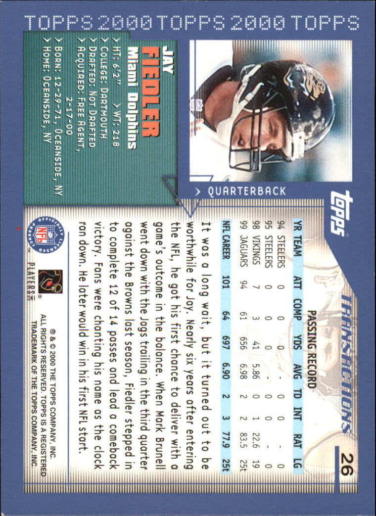 2000-Topps-Football-Base-Singles-3-299-Pick-Your-Cards thumbnail 31