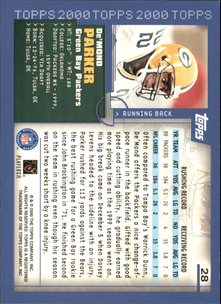 2000-Topps-Football-Base-Singles-3-299-Pick-Your-Cards thumbnail 35