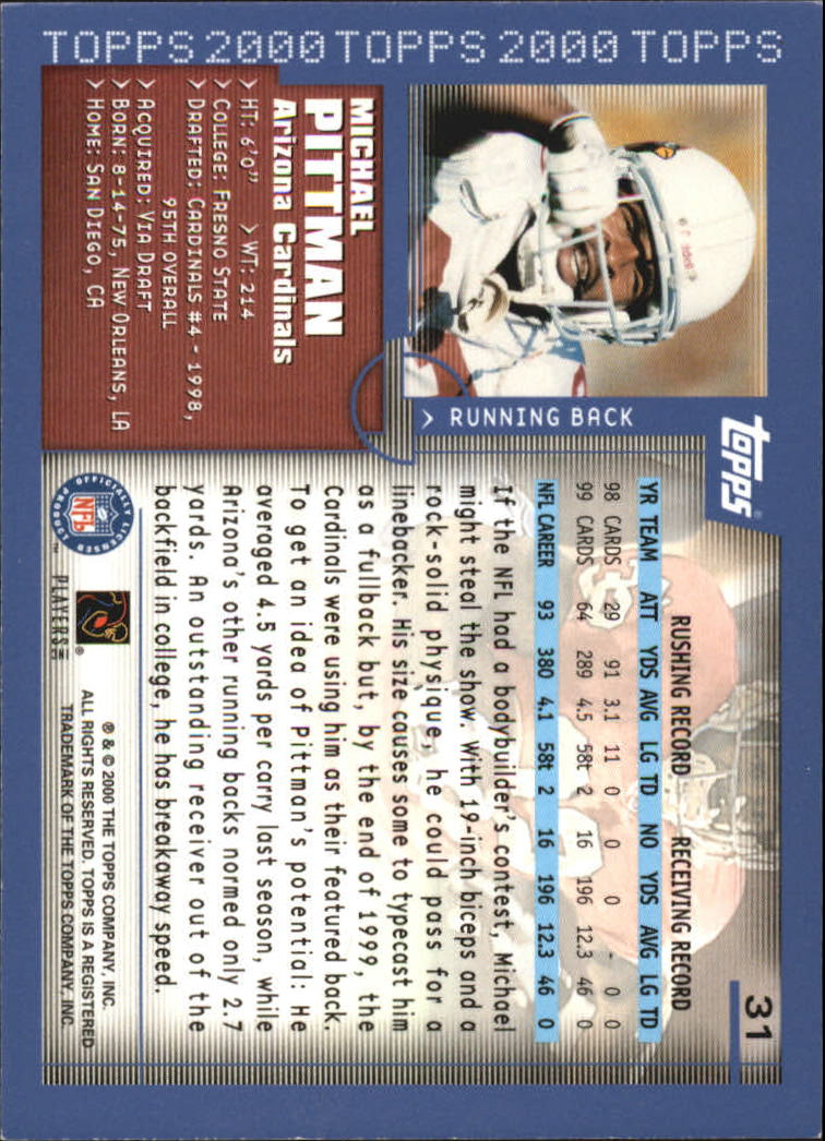 2000-Topps-Football-Base-Singles-3-299-Pick-Your-Cards thumbnail 39