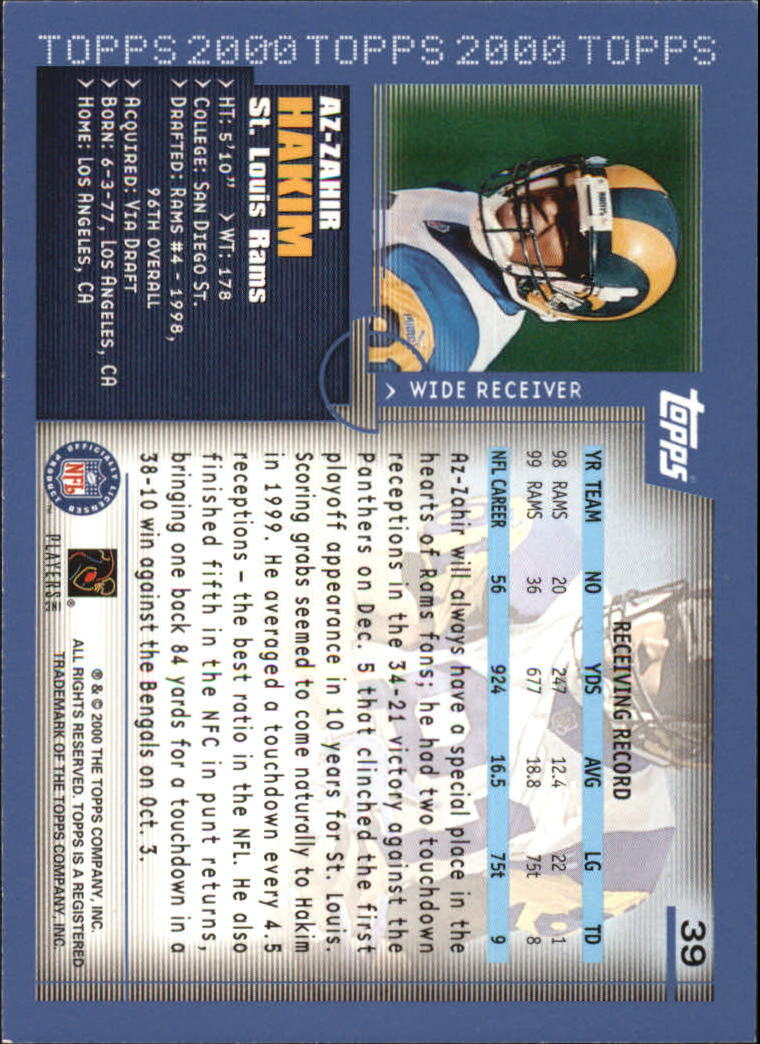 2000-Topps-Football-Base-Singles-3-299-Pick-Your-Cards thumbnail 47