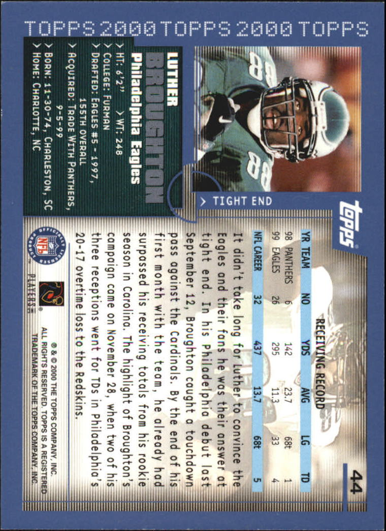 2000-Topps-Football-Base-Singles-3-299-Pick-Your-Cards thumbnail 53