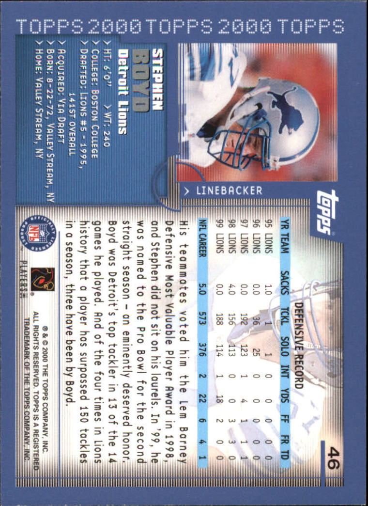 2000-Topps-Football-Base-Singles-3-299-Pick-Your-Cards thumbnail 55