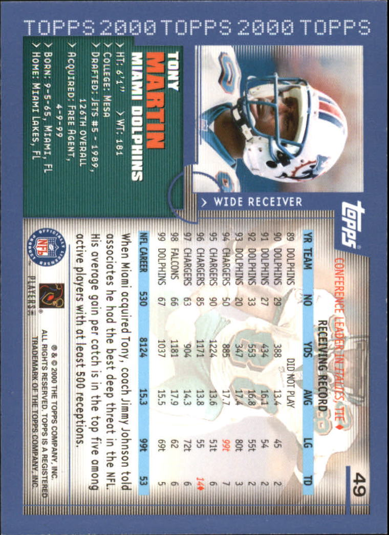 2000-Topps-Football-Base-Singles-3-299-Pick-Your-Cards thumbnail 59