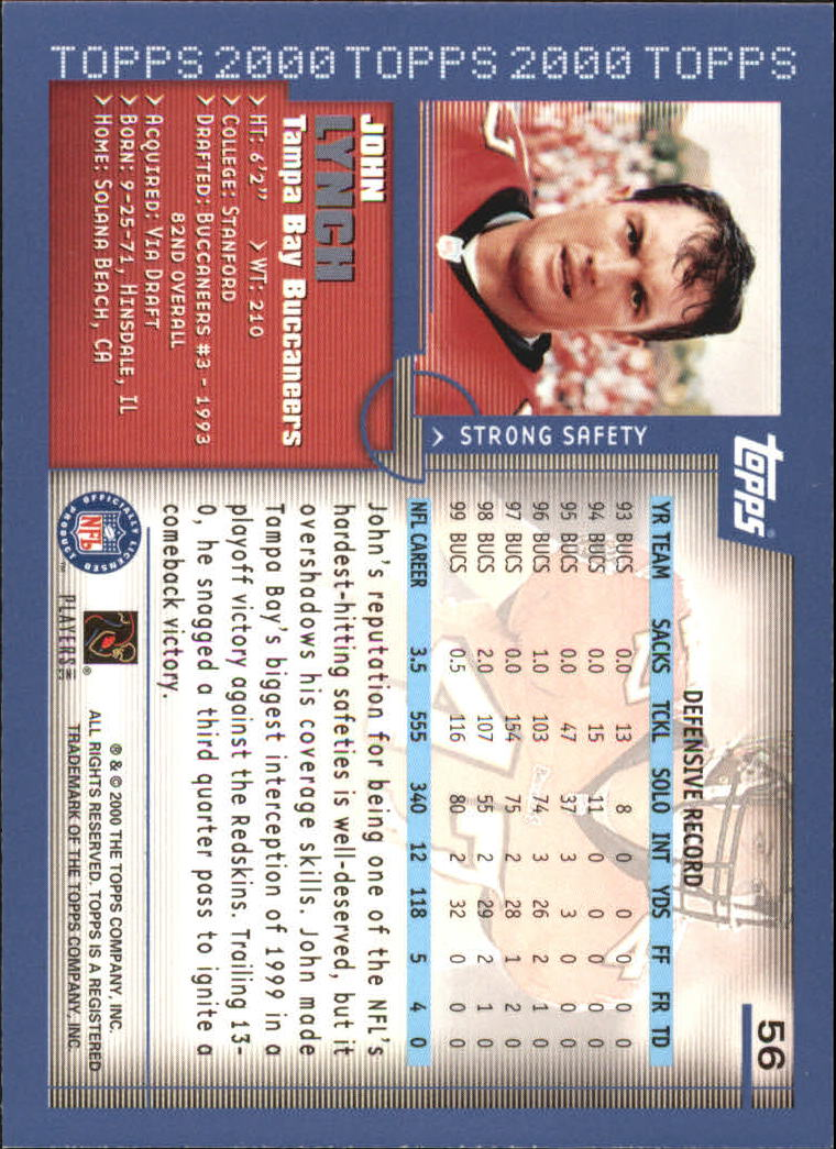 2000-Topps-Football-Base-Singles-3-299-Pick-Your-Cards thumbnail 65