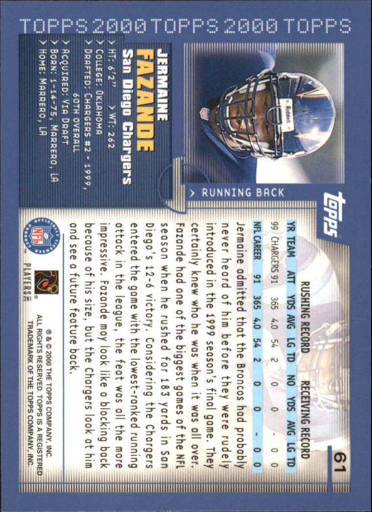 2000-Topps-Football-Base-Singles-3-299-Pick-Your-Cards thumbnail 73