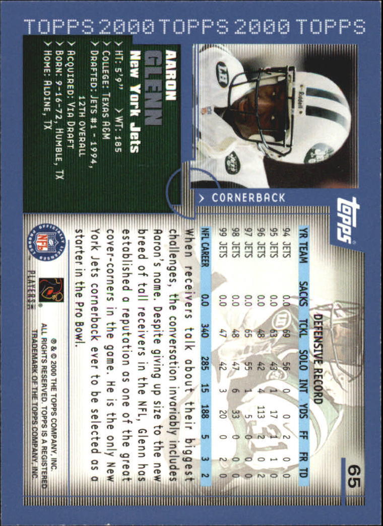 2000-Topps-Football-Base-Singles-3-299-Pick-Your-Cards thumbnail 79