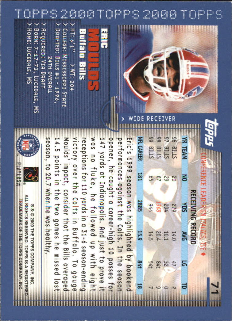 2000-Topps-Football-Base-Singles-3-299-Pick-Your-Cards thumbnail 87
