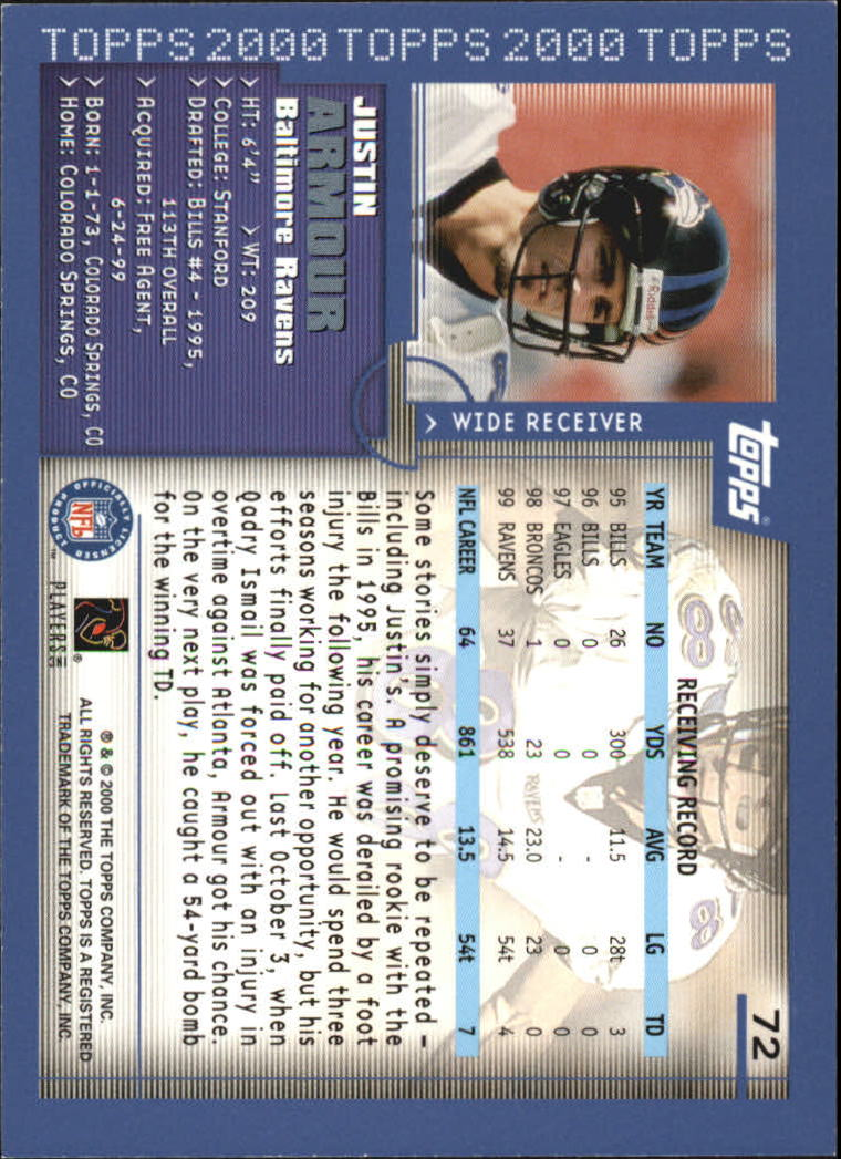2000-Topps-Football-Base-Singles-3-299-Pick-Your-Cards thumbnail 89