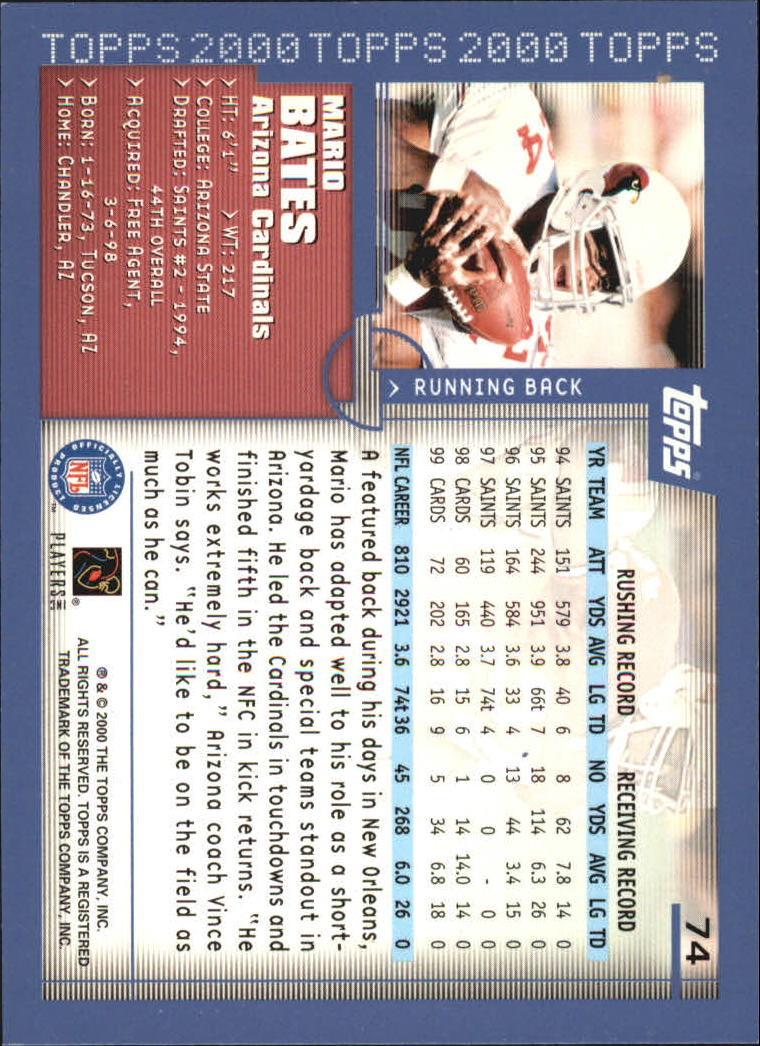2000-Topps-Football-Base-Singles-3-299-Pick-Your-Cards thumbnail 93