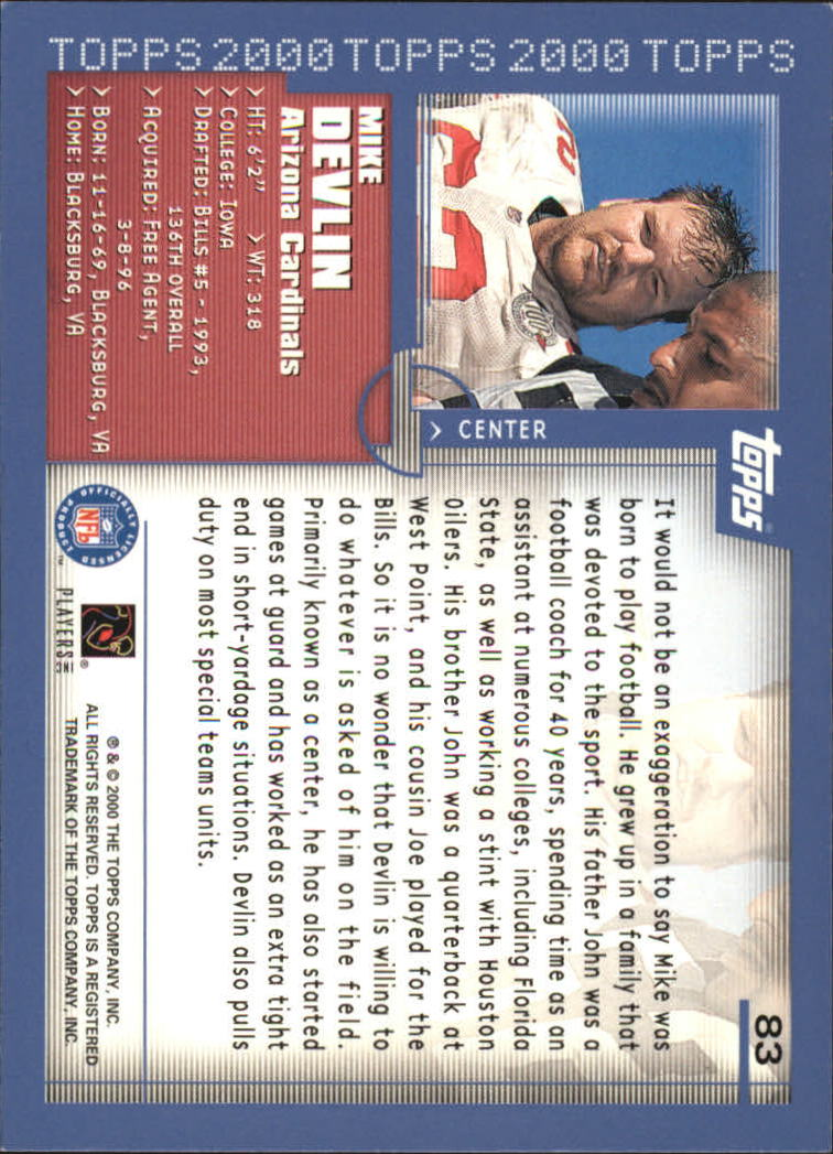 2000-Topps-Football-Base-Singles-3-299-Pick-Your-Cards thumbnail 101
